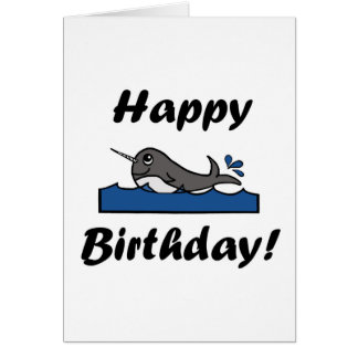 Cartes Anniversaire Narwhal