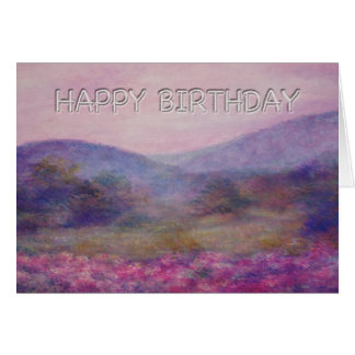 Cartes anniversaire painterly de nocturne d'été