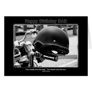 Cartes Anniversaire - papa - casque de motard - moto
