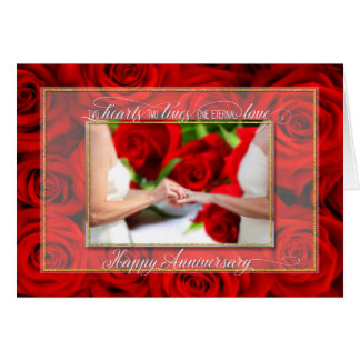 Cartes Anniversaire pour les ajouter lesbiens aux roses