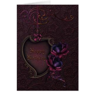 Cartes Anniversaire rose gothique