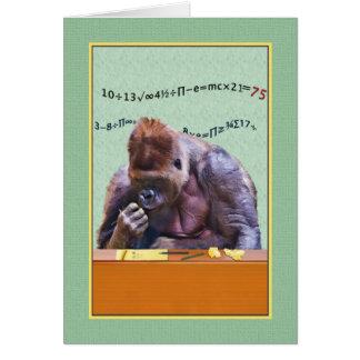 Cartes Anniversaire, soixante-quinzième, gorille au