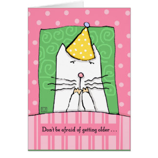 Cartes Anniversaire, vieillissant, chat, joyeux