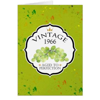 Cartes Anniversaire vintage d'étiquette de vin