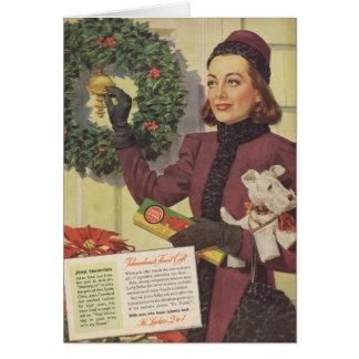 Cartes Annonce 1937 de Noël de Joan Crawford