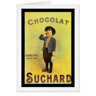 Cartes Annonce de cru de Suchard 3 de chocolat avec le