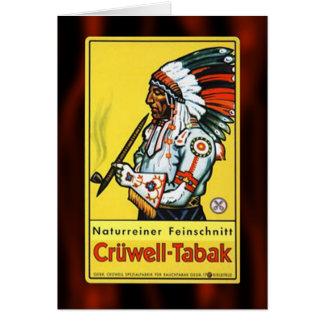 Cartes Annonce naturelle vintage de tabac