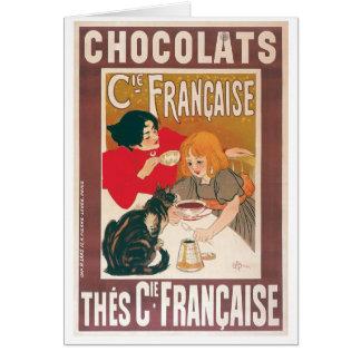 Cartes Annonce vintage de boissons de chocolat chaud de ~