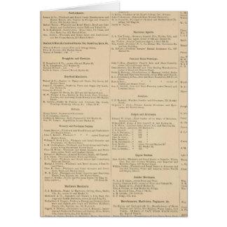 Cartes Annuaire commercial de Wilmington Delaware
