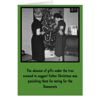 Cartes Anti Noël drôle de Démocrate