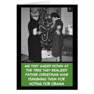 Cartes Anti Noël drôle d'Obama