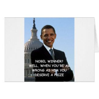 Cartes anti plaisanterie d'obama