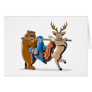Cartes Anti vengeance d'animal de chasse