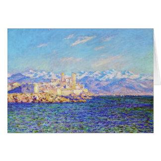 Cartes Antibes, effet d'après-midi, Claude Monet 1888
