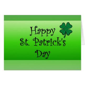 Cartes &apos heureux de St Patrick ; jour de s