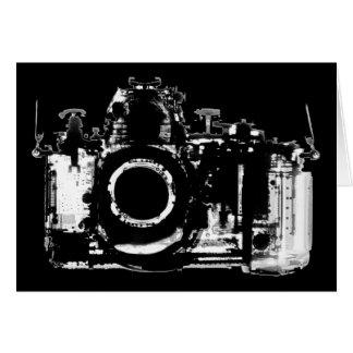 CARTES APPAREIL-PHOTO DE VISION DE RAYON X - NOIR ET