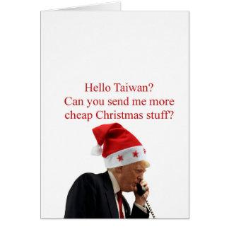 Cartes Appel de Noël de l'atout à Taïwan