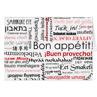 Cartes Appetit de fève dans la typographie différente de