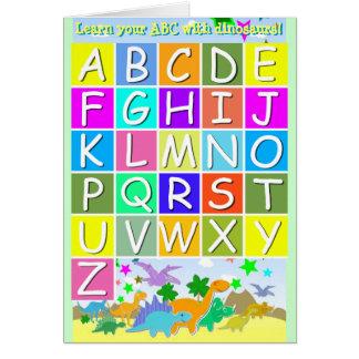 Cartes Apprenez votre ABC avec l'alphabet d'A-Z de