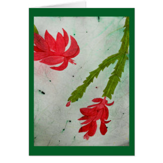 Cartes Aquarelle de cactus de Noël