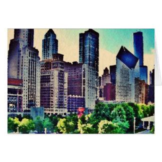 Cartes Aquarelle de Chicago