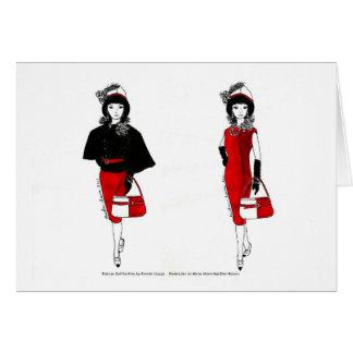 Cartes Aquarelle de mode de poupée de Matisse - cap noir