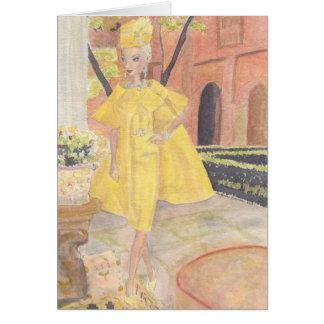 Cartes Aquarelle de mode de poupée de Matisse - dOr de