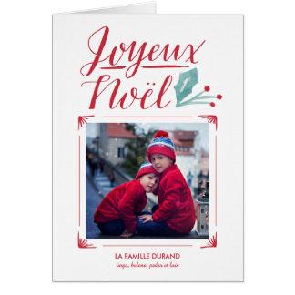 Cartes Aquarelle et Calligraphie | Joyeux Noël