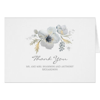 Cartes aquarelle florale - épouser d'anémones vous