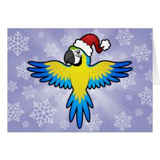 Cartes Ara/perroquet de Noël