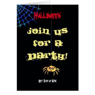 Cartes Araignée accrochante Halloween
