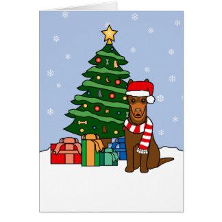 Cartes Arbre australien de Kelpie et de Noël