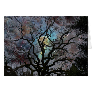 Cartes Arbre cosmique - nébuleuse de trou de la serrure