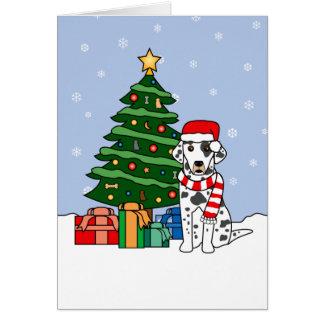 Cartes Arbre de Dalmate et de Noël