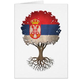 Cartes Arbre de drapeau de la vie serbe personnalisable