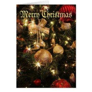 Cartes Arbre de Joyeux Noël avec des lumières