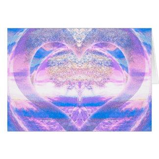 Cartes Arbre de la vie avec le coeur