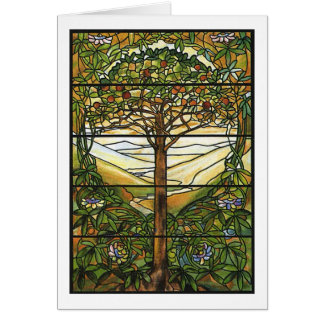 Cartes Arbre de la vie/de fenêtre en verre teinté de