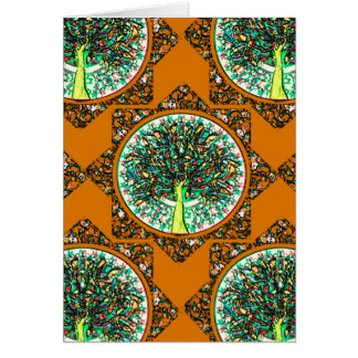 Cartes Arbre de la vie modelé par orange