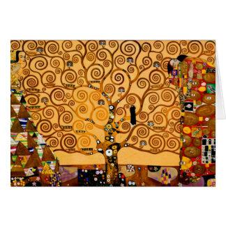 Cartes Arbre de la vie par des beaux-arts de Gustav Klimt