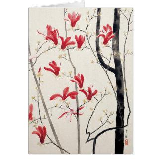 Cartes Arbre de magnolia par Kobayashi Kokei, nature