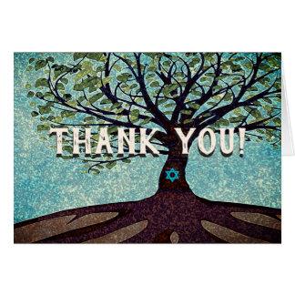 Cartes Arbre de Mitzvah de barre de Merci de Lifel