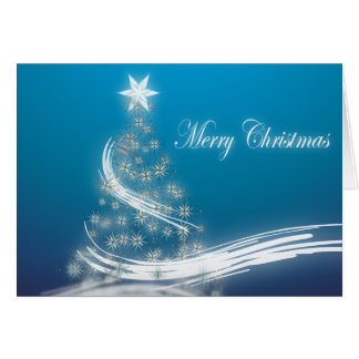 Cartes arbre de Noël à feuillage persistant élégant de