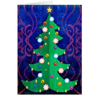 Cartes Arbre de Noël avec des ornements