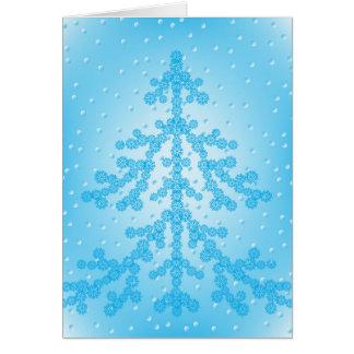 Cartes Arbre de Noël bleu