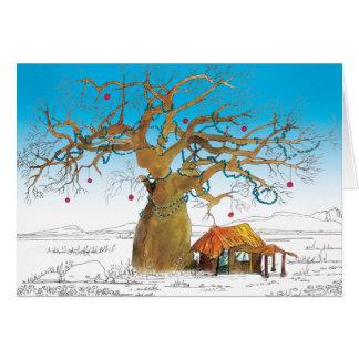 Cartes Arbre de Noël de baobab