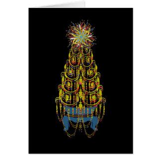 Cartes Arbre de Noël de carte/d'invitations de ~ de joie