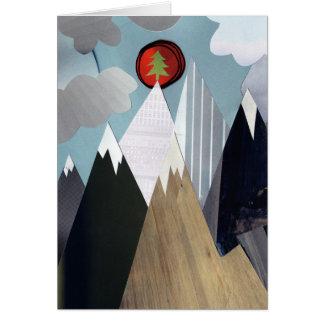 Cartes Arbre de Noël de sommet de montagne