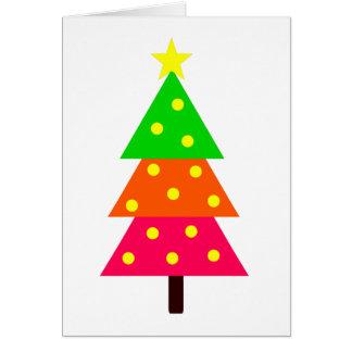Cartes Arbre de Noël lumineux personnalisé