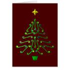 Cartes Arbre de Noël moderne peu commun d'art de pixel